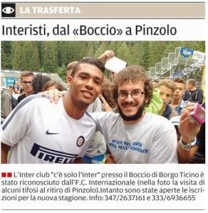Inter Club c'è solo l'Inter Pavia a Pinzolo 2014