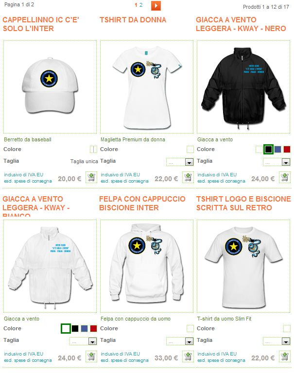Negozio online magliette gadgets